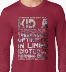 Radiohead - Kid A Album Song List T-Shirt #1 Long Sleeve T-Shirt