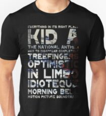 Radiohead - Kid A Album Song List T-Shirt #1 T-Shirt