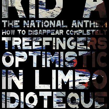Radiohead - Kid A Album Song List Design #2 by joshwaites
