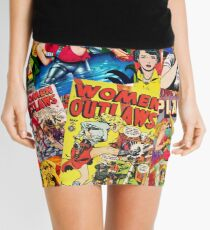 Vintage Comic Book Collage  Mini Skirt