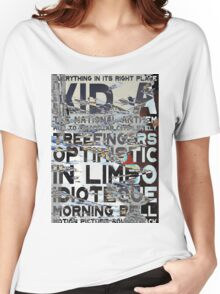 Radiohead - Kid A Album Song List Design #3 Women's Relaxed Fit T-Shirt