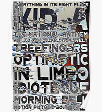 Radiohead - Kid A Album Song List Design #3 Poster