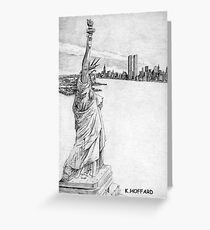 """The Statue of Liberty""  Greeting Card"