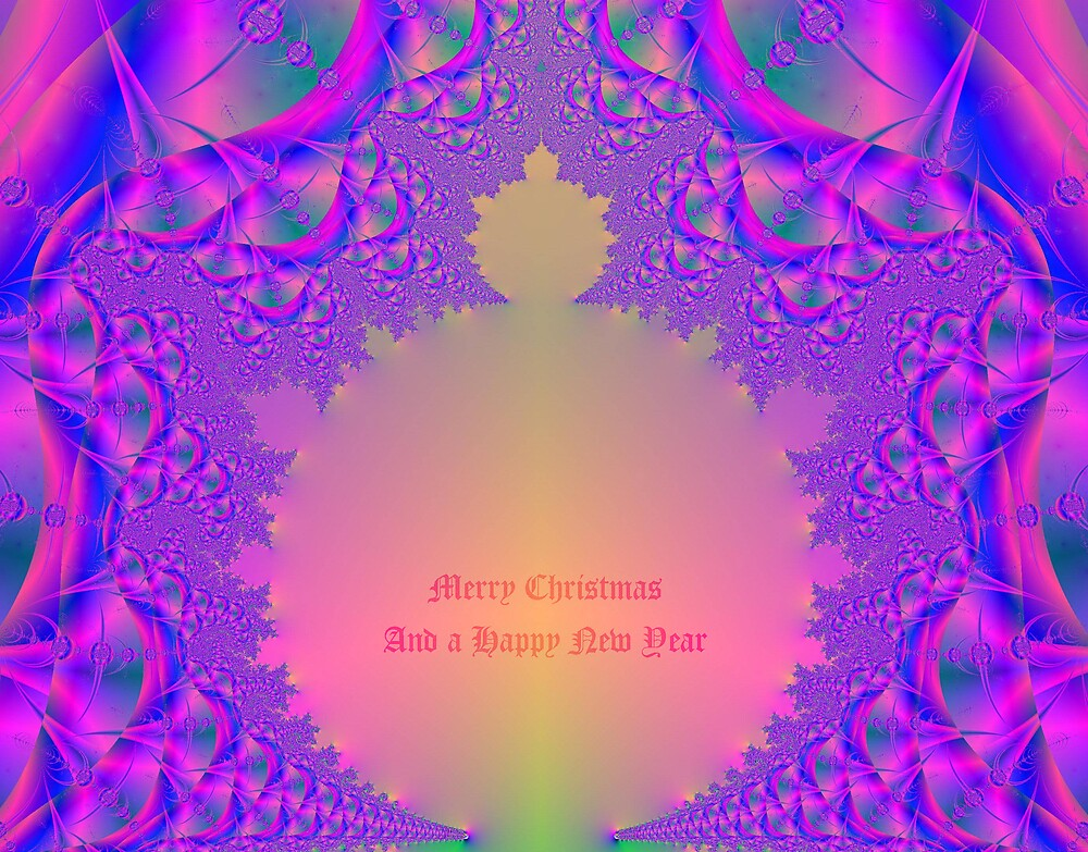 Merry Christmas And A Happy New Year-Fractal Abstract Art by Terry Krysak