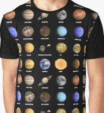 Solar System Planets  Graphic T-Shirt