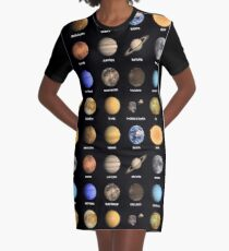 Solar System Planets  Graphic T-Shirt Dress
