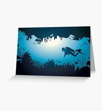 Underwater World - Scuba Diver Greeting Card