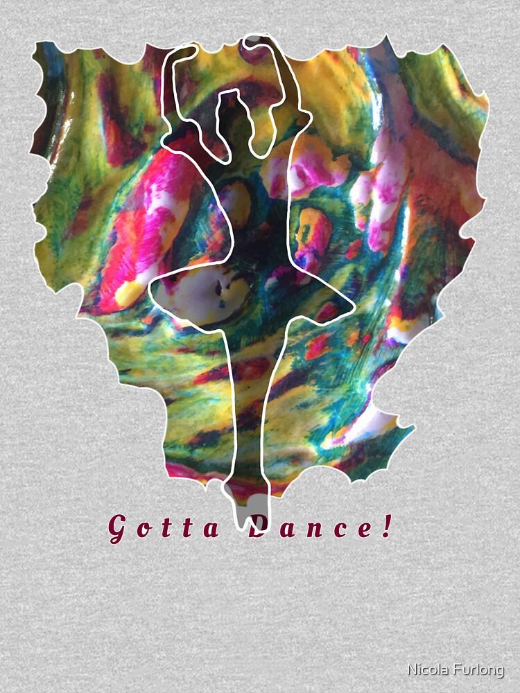 JUST DANCE COLOURFUL BALLERINA by nicolafurlong