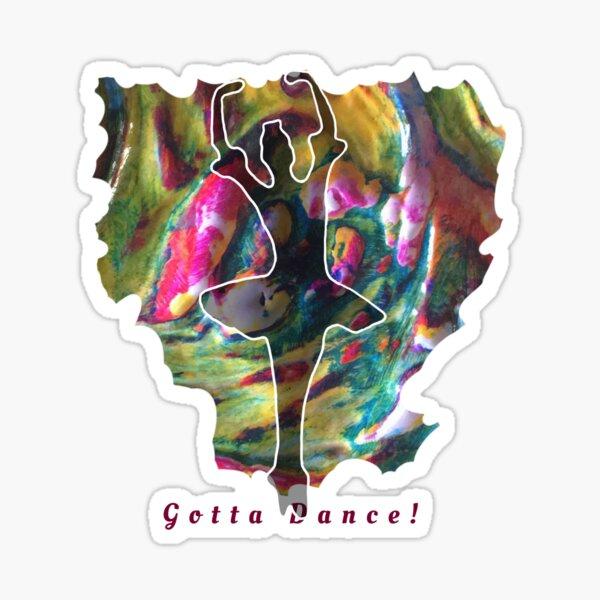 JUST DANCE COLOURFUL BALLERINA Sticker