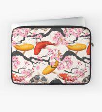 Koi Carp with Sakura Plant Laptop Sleeve