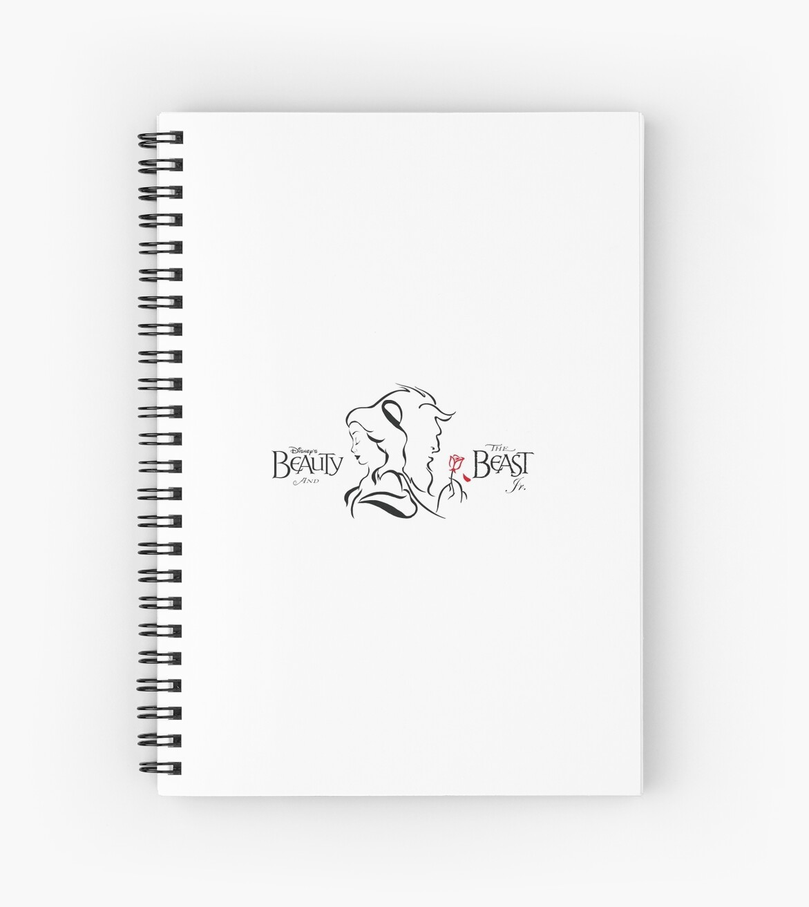 Beauty And The Beast Lines Spiral Notebooks By Diana Tlb Redbubble