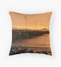 Golden mornings Throw Pillow