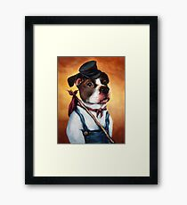 Alou, on the Road Framed Print