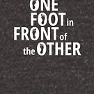 One Foot In Front Of The Other - White by yayandrea