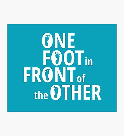 One Foot In Front Of The Other - White Photographic Print