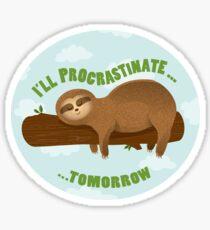 Lazy sloth  Sticker
