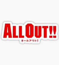 All Out!! Logo Sticker