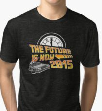 The Future is Now (Back to the Future) Tri-blend T-Shirt
