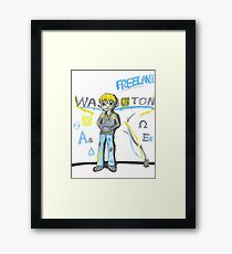 Red Vs Blue Graffiti- Washington Framed Print