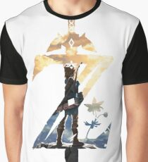 Breath Of The Wild Z Link Cover Graphic T-Shirt