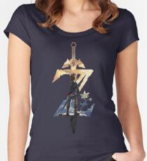 Breath Of The Wild Z Link Cover Women's Fitted Scoop T-Shirt