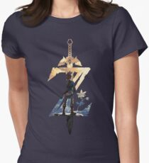 73f08f05 Breath Of The Wild Z Link Cover Women's Fitted T-Shirt