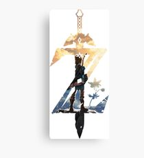 Breath Of The Wild Z Link Cover Canvas Print