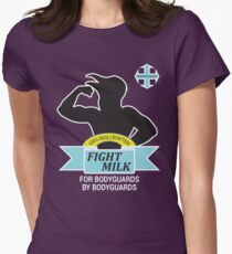 Fight Milk Womens Fitted T-Shirt