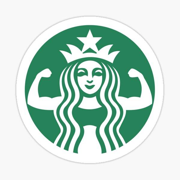 PARODY Buff Bucks Coffee & Weight Lifting Lovers Design Sticker