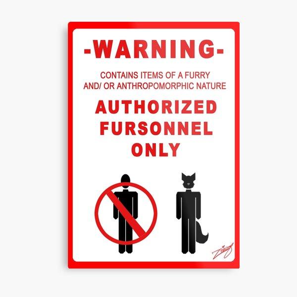 Authorized Fursonnel Metal Print
