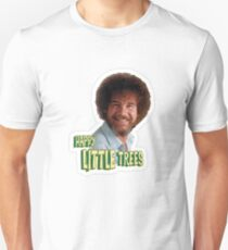 Bob Ross No Mistake Just Happy Little Trees Painter Design T-Shirt