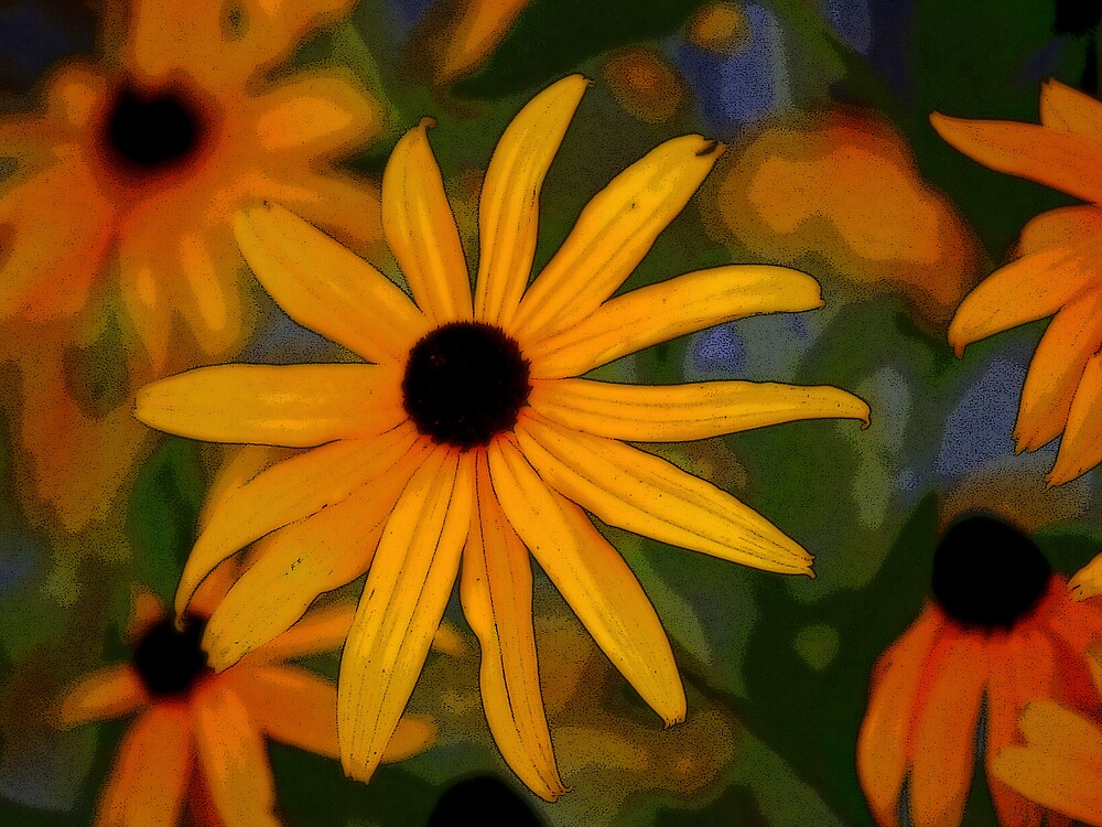 Abstract Flowers by Carole Rogers