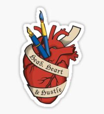 Head, Heart & Hustle Sticker