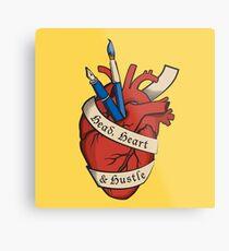 Head, Heart & Hustle Metal Print