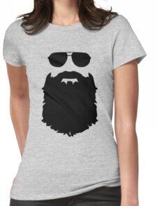 Beard glasses Womens Fitted T-Shirt