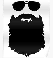 Beard glasses Poster