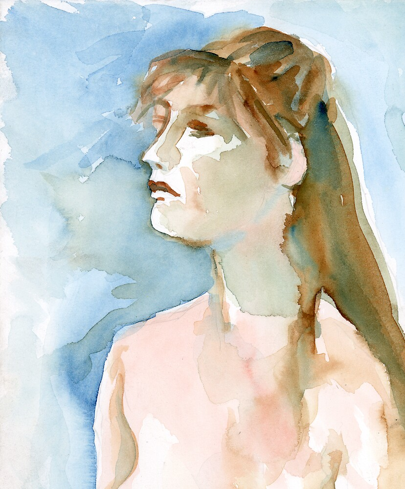 Watercolor Portrait by Linda J Armstrong