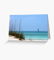Bright Blue Greeting Card