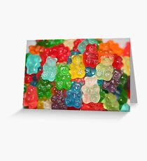 Gummy Bear Candy Greeting Card
