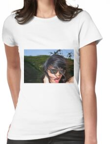 Windblown Woman Womens Fitted T-Shirt