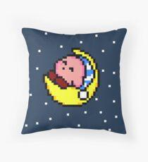 Sleepy Kirby - Pixel Art  Throw Pillow