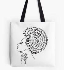 Bolsa de tela Poderosa e inspirada Dama con Afro