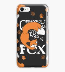 Crazy Like A Fox (Orange) iPhone Case/Skin