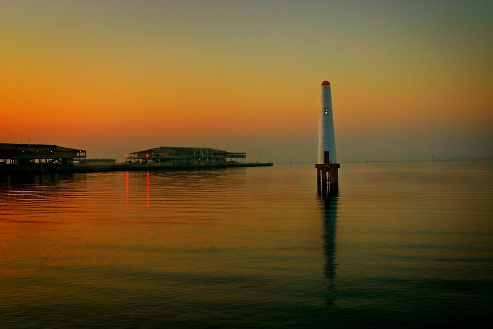 Port Melbourne Lighthouse 6.30am by Melinda Kerr