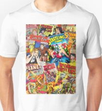 Vintage Comic Book Collage  Unisex T-Shirt