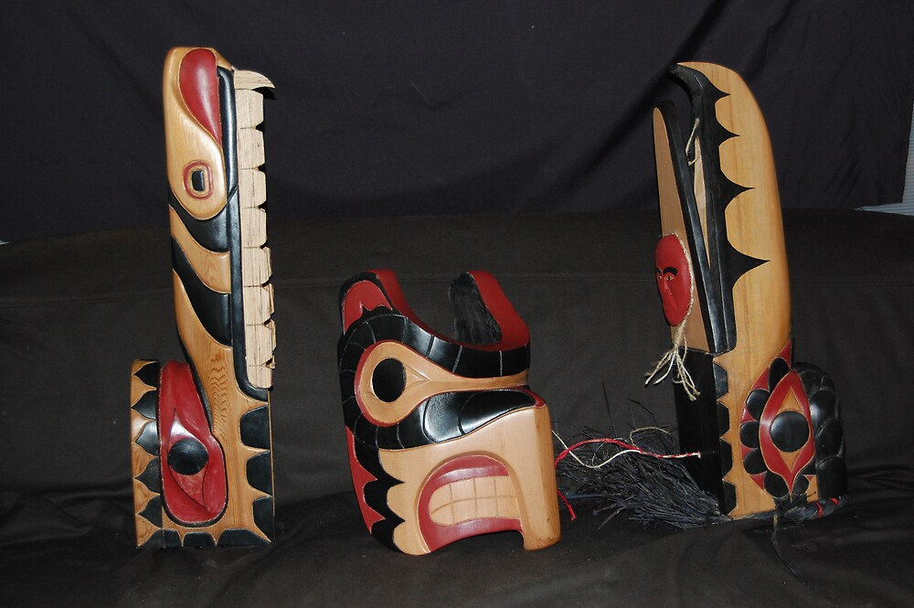 wood masks *******FOR SALE******* by masksmen