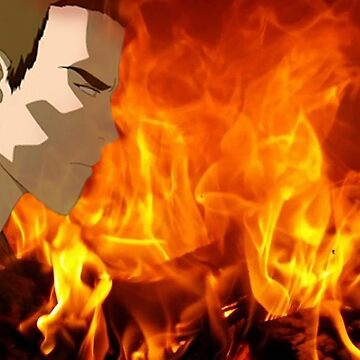 Prince Zuko in front of fire with no angst  by NorwaySpruce