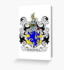 Bagnall Coat of Arms Greeting Card