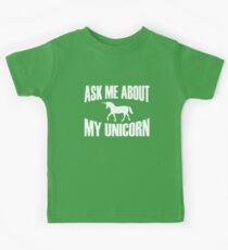 Ask Me About My Unicorn Kids Tee