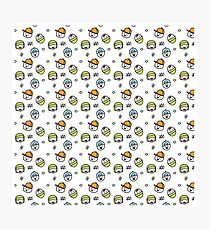 Cute kawaii rascals boys and girls pattern Photographic Print